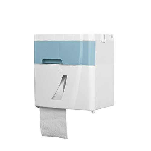 Kylewo Toiletpapier box voor vochtig papier, toiletrolhouder Tissue Pack dispenser voor wandmontage, compatibel met keukenrolpapier zijdepapier voor badkamer, slaapkamer