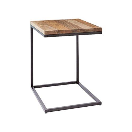 Table d'appoint Petite table basse Canapé Meuble latéral Salon Chambre à coucher Table de chevet Table amovible Bureau Moderne Minimaliste (Color : Black, Size : 42x42x48CM)