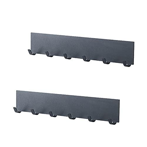 Vanlux Ganchos sin perforación, 6 ganchos montados en la pared, de acero al carbono, para pequeños artículos de cocina y baño