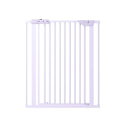 Punch-Free Pet Gat And Dog Gate Funda de seguridad, Aumente el cifrado Baby Gate con el interruptor de imán, Pey Playpen, Para las escaleras de las puertas Barrera Decorativa PET (Color: W111-117cm, T