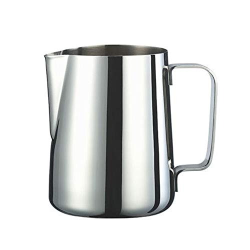 Milk Frothing Pitcher 12oz Espresso Steaming Pitcher Stainless Steel Coffee Cappuccino Latte Art Barista Steam Pitchers milk steaming pitcher  Silver