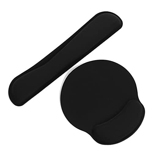 Reposamuñecas para teclado 1 juego Juego Mapa Materia Memoria Esponja Teclado Ergonómico Muñeca Rest Pads Anti Slip Soporte Mano Suministros Oficinas Computadora Portátil ACCE Adecuado para; trabajado