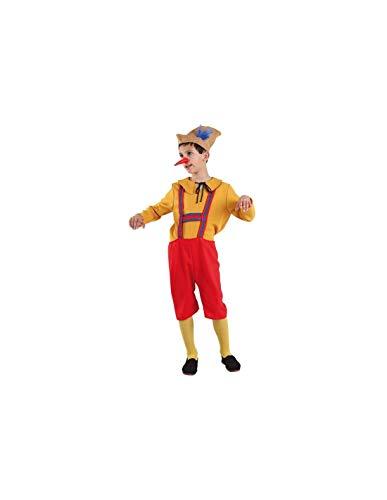 DISBACANAL Disfraz de pinocho Infantil - -, 8 años