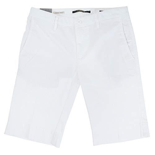 ALBERTO Slim-Fit Short in Chino-Optik Weiss (100 White) 32