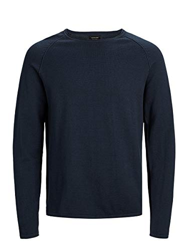 JACK & JONES Male Strickpullover Melange XLEnsign Blue
