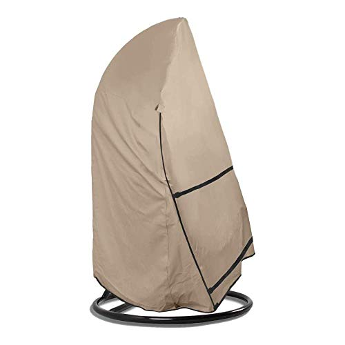 Mutmi Garden Swing Cover Patio Hanging Chair Cover Waterproof Garden Furniture Protective Cover 420d Oxford Fabric Rip And Wind Resistant,Beige-114cm*84cm*173cm,Beige,114cm*84cm*173cm