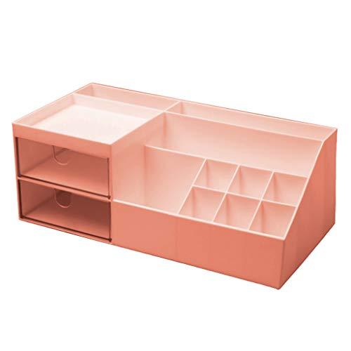 duquanxinquan Plastic Desk Organizer Briefpapier Aufbewahrung Organizer Abdeckungshalter Briefpapierkoffer Make-up Organizer für Schlafzimmer Kommoden, Wohnzimmer, Schreibtische und Tische Büro