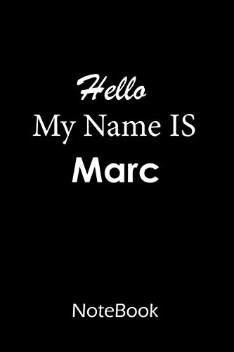 Marc : Notebook   journal : This NoteBook is For Marc: lined paper notebook 6*9, 110 pages.