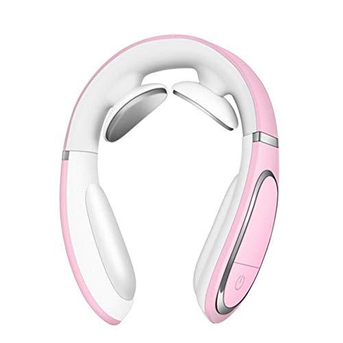BXFUL Cervical Massage AnsatzMassager Büro Nackenschutz Hot Compression Elektrischer Impuls U-förmige Kissen Charging Bewegliche Klassischen Nackenschutz (Pink)