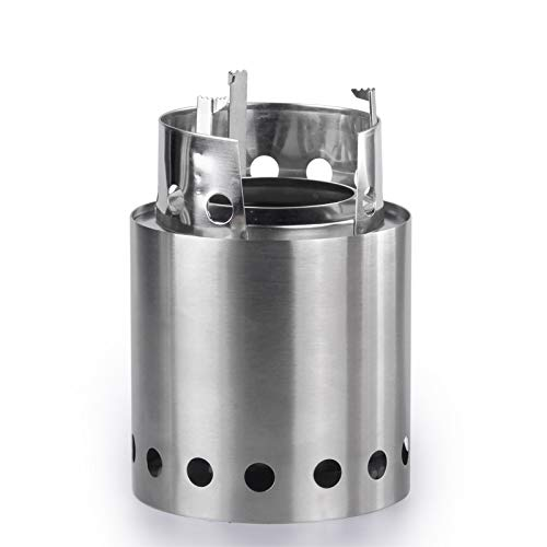 APG Portable Wood Camp Stove Foldable Solidified Alcohol Burners Backpacking Picnic Firewood Furnace