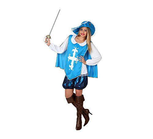 Atosa 22866 Disfraz Mosquetera XL Mujer Azul halloween, color