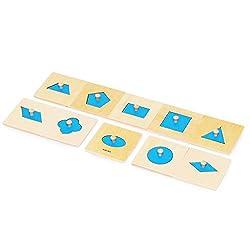 【MONTE Kids】モンテッソーリ教具 -- 幾何学パズル ミニサイズ-- Montessori 知育玩具教具 幼児早期教育 モンテキッズ 本格教材 算数 おもちゃ -- 幾何学パズル ミニサイズ--