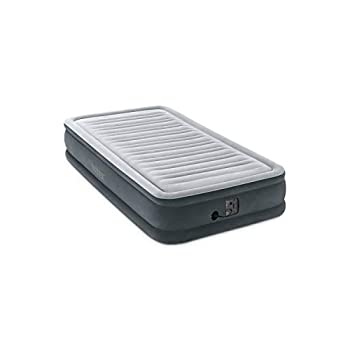 Intex Comfort Plush Mid Rise Dura-Beam Airbed with Internal Electric Pump Bed Height 13  Twin