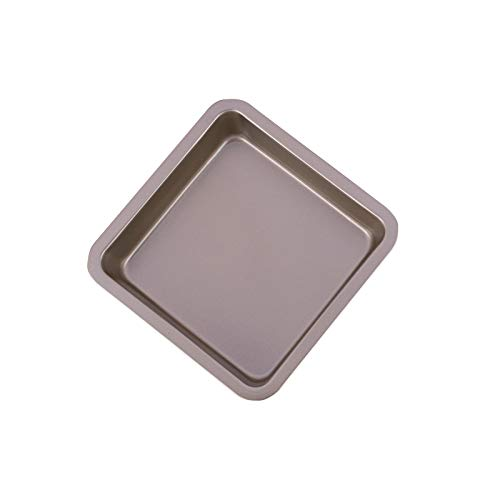 Difcuy Household Non-stick Cake Mold,Carbon Steel Non-stick Square Baking Tray Toasting Pan, Bread Bar, Bakeware, Pizza Cake, Baking Pan, Pan Tools Golden