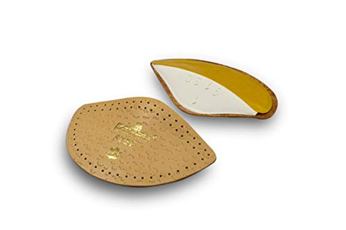 Pedag Step 16647 Symmetrical Self Adhesive Arch Support Inserts, Tan Leather, Large