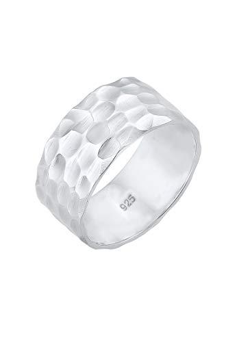 Elli Ring Damen Bandring Basic Gehämmert in 925 Sterling Silber
