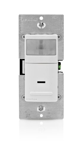 Leviton Decora Motion Sensor In-Wall Switch, Auto-On, 15A, Single Pole or 3-way, White/Ivory/Light Almond