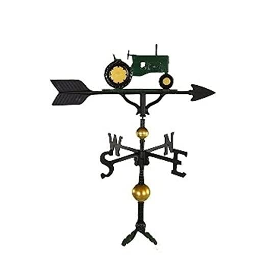 Montague Metal Products Wetterfahne mit grünem Traktor, 81,3 cm