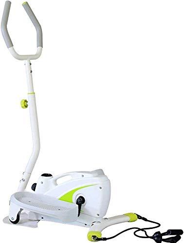 GJJSZ Elliptical Cross Trainer Elliptical Machine Trainer Smooth Quiet Driven Elliptical Exercise Trainer Machine Indoor Home Fitness Cardio Workout Machine(Color:White,Size:127x65x48cm)