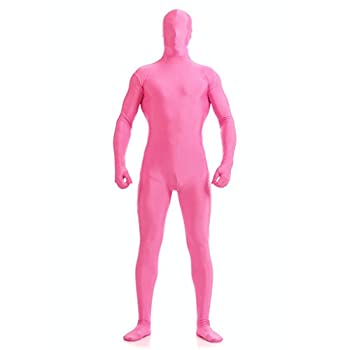 DH Men s Polyester Spandex Full Body Costume Zentai Suit  M Pink