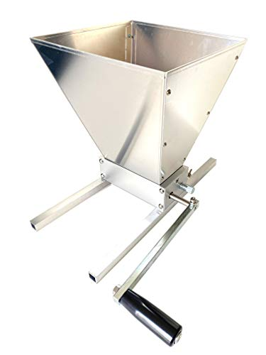 Kakaako Brewing Grain Mill 2 Roller Malt Crusher for Homebrew Manual Adjustable Barley Grinder with Base