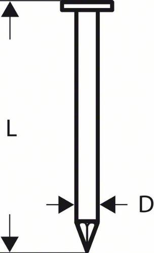 Bosch Professional Dachpappennagel CN 45-15 HG 25 mm, feuerverzinkt, 2608200044