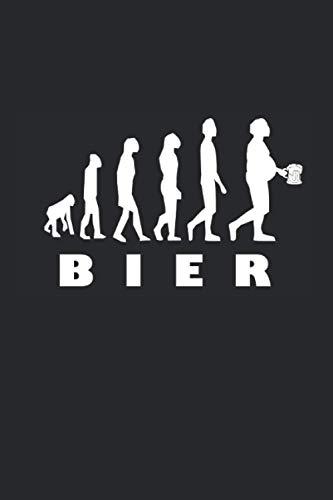 Bier Evolution: Notizbuch mit 120 Seiten (liniert), 6x9 inches (15,24 x 22,86 cm)