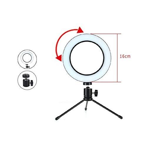 Anillo de luz Foto Luz de atenuación de video Luz LED Anillo Selfie Cámara del teléfono móvil Luz de relleno de maquillaje en el lugar usando Tiktok16CM