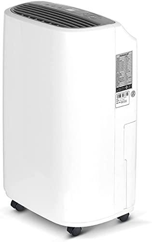 Deumidificatore FT per il garage della camera da letto degli scantinati domestici con tubo continuo del tubo flessibile e ruota 1.8L Serbatoio dell'acqua Controllo dell'umidità intelligente