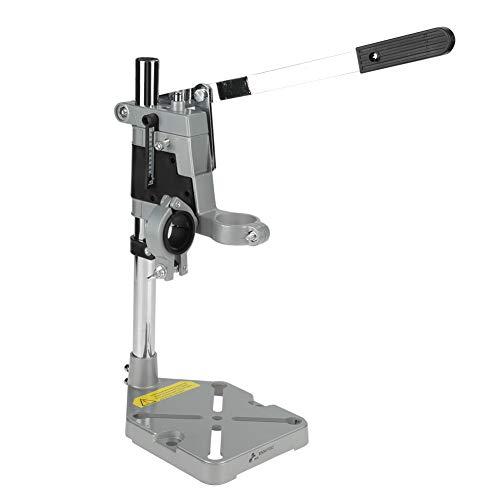 Soporte para taladro - Soporte para prensa taladradora, base de aluminio Soporte universal para prensa taladro Herramienta de abrazadera Agujeros dobles