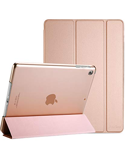 ProCase iPad Mini 1 2 3 Case(Old Model A1432 A1490 1455), Slim Lightweight Stand Cover with Translucent Frosted Back Smart Case for 7.9' Apple iPad Mini, Mini 2, Mini 3, with Auto Sleep/Wak –Rose Gold