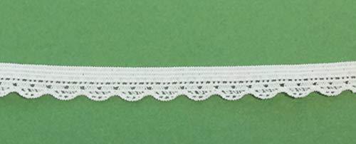 Großhandel für Schneiderbedarf 3 m Wäschespitze elastisch 10 mm weiß 1,66€/m