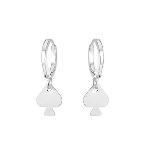 LABIUO Einfache literarische Schneeflocken Damenohrringe Mode Sterling Silber Ohrringe(C,Freie Größe)