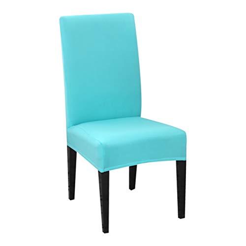 AMURAO Einfarbiger Stretch-Stuhlbezug Spandex Universal Abnehmbare Esszimmerstuhl-Schutzhüllen für das Hochzeitsbankett-Hotel