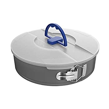 Classic Cuisine Springform Cheesecake Pan with Lid-10 Bakeware Nonstick Baking Travel Friendly Snap-on Lid-Anti Warping Carbon Steel
