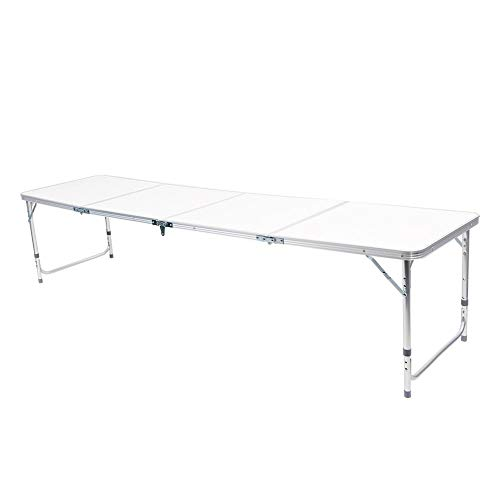 Mesa de camping plegable mesa de picnic, mesa plegable de aluminio portátil, para camping, picnic, barbacoa, juegos de fiesta al aire libre, resistente al fuego, antioxidante