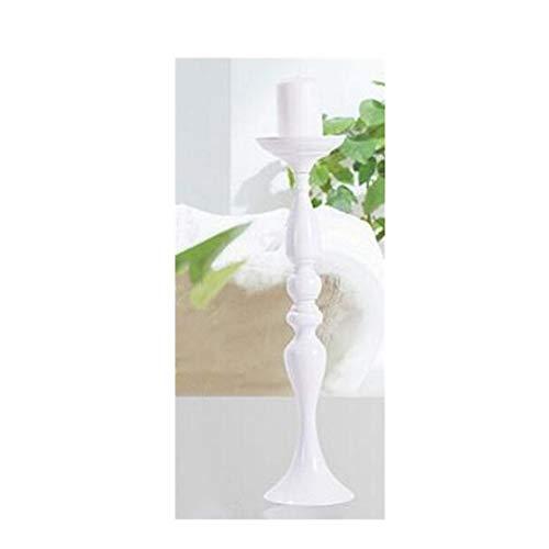 ANH19 - Portacandele in Metallo Dorato, 50 cm, 20 candelieri da Tavolo, centrotavola, per Eventi, Matrimoni, Decorazioni