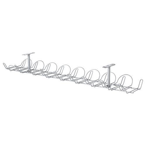 SIGNUM ケーブルオーガナイザー 横型 シルバーカラー 10200254 イケア IKEA