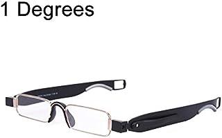 LIJIAN + 1.00 D、携帯用折り畳み式360度回転ペン先ぶら下げ老眼鏡 (SKU : Og4375b)