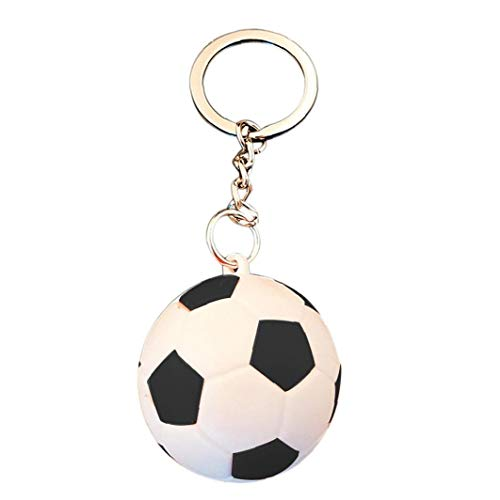 Fußball Schlüsselanhänger Mini-fußball Schlüsselanhänger Neuheit-Kind-Jungen-Tasche Anhänger Party School Bevorzugungen Geburtstags-Geschenk
