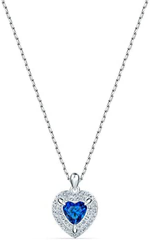 Swarovski 125th Anniversary Women s One Pendant Necklace Heart Shaped Necklace with Blue and product image