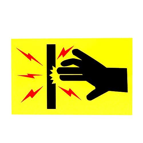 Car Sticker Tenga Cuidado de no Tocar el Peligro de Alto Voltaje Advertencia de Advertencia Adhesivos del automóvil PVC Personalidad automática decoración de calcomanía Impermeable