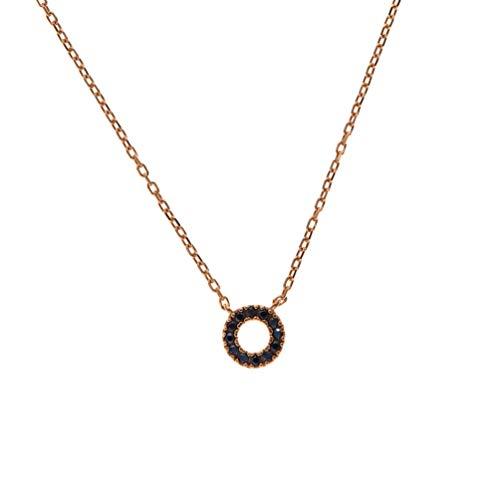 Kurshuni Halskette Mini Circle Spinell Roségold