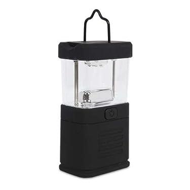 Mini LED Lantern - 11-LED, Rubberized Body, 3x AA Batteries Required, Black - 55221