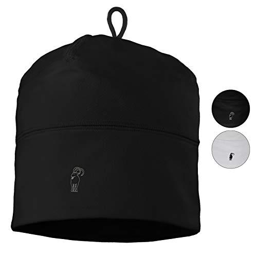 ALPIDEX Kinder Sportmütze Fussball Fahrrad Mütze Helm Unterziehmütze Dünn Jungen Mädchen, Farbe:Black