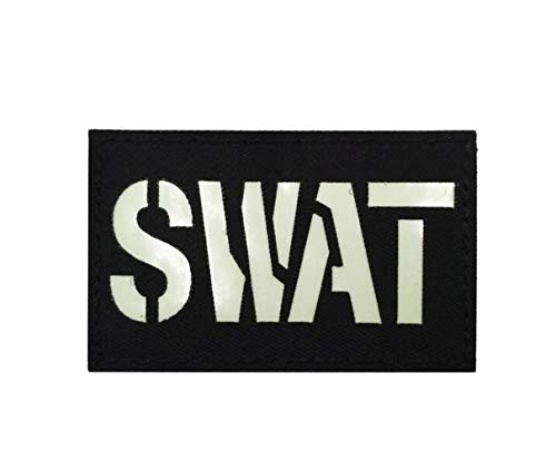 Ohrong SWAT reflecterende IR tactische moreel patch politie speciale kracht zwart badge camo armband embleem apparaat met haak & lus