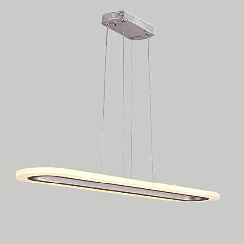 GENGJ Pendelleuchte LED Pendelleuchte Fernbedienung Helligkeit Einstellbare Höhe Und Acrylplatte Zu Tisch, Esszimmer, Büro, Wohn-, Empresa