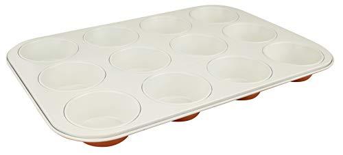 Dr. Oetker Muffinform 12 Stück DieMaus, eckige Backform, hochwertige Kuchenform aus Stahlblech, Form mit keramisch verstärkter Antihaftbeschichtung (Farbe: Maus-Orange/Creme)