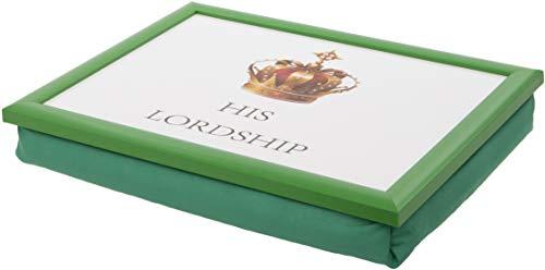 Maturi 460052 His Lordship Bean Bag Lap Tray with Cushion, Wood