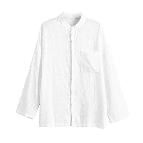 LISTHA Button Shirts Mens Long Sleeve Henley Shirt Beach Yoga Loose Fit Tops